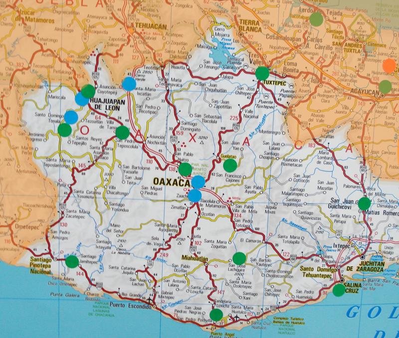 Estado de oaxaca volver a mapa de m 233 xico